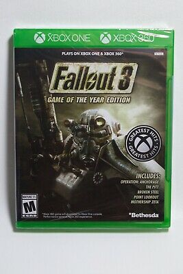 Fallout 3 - Game of the Year Edition Xbox One + Xbox 360 *Brand New*