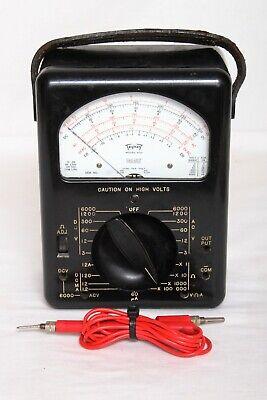 Vintage Analog Triplett Model 630 Electrical Diagnostic Tester Multimeter