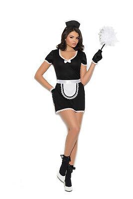 Sexy 4PC Flirty Maid Women's Halloween Costume by EM. Plus Size Too!](Plus Size Maid Halloween Costume)
