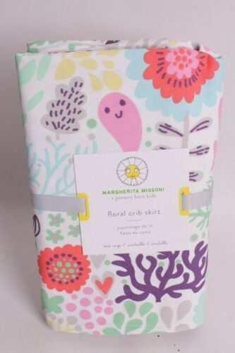 NWT Pottery Barn Kids Margherita Missoni Floral crib skirt nursery