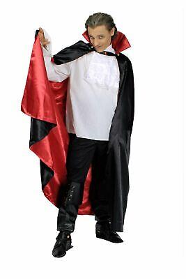 Dracula Kostüm Cape Umhang Vampir Vampirumhang schwarz rot Halloween Karneval (Rote Halloween Cape)