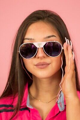Rare pink leather Julbo snow ski sunglasses in original case & paperwork