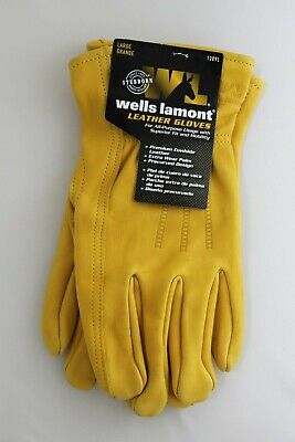 New Wells Lamont Premium Leather Work Gloves Mens Size Large