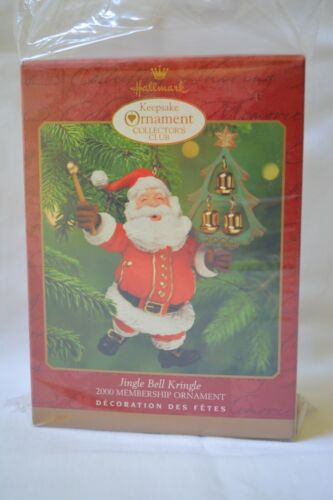 "Hallmark 2000 Collectors Club ""Jingle Bell Kringle"" Santa Ornament NIB"