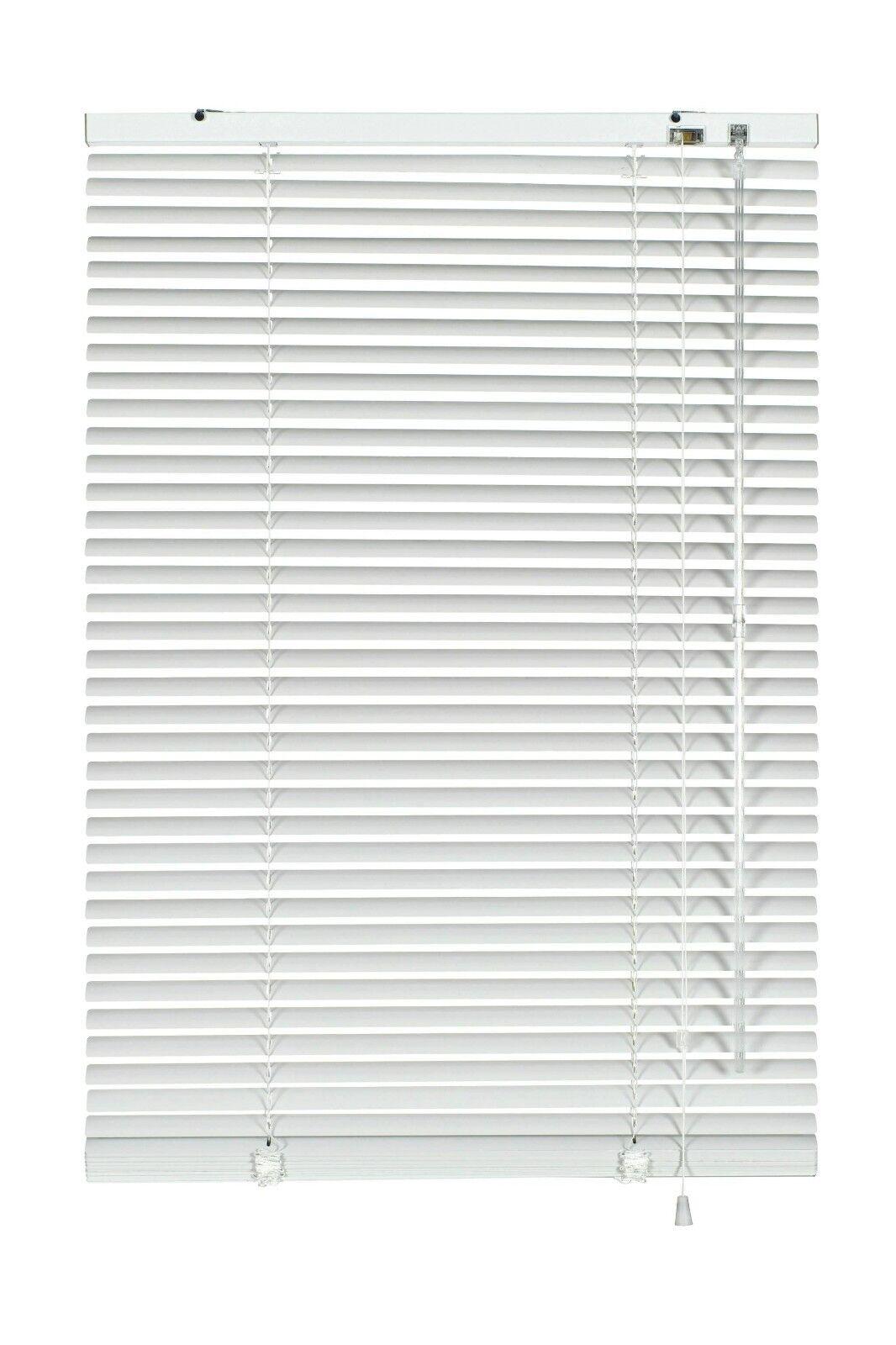 Alu Jalousie Aluminium Jalousette Klemmträger Fenster Rollo Lamelle Weiß Silber