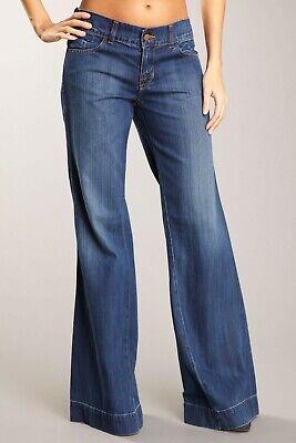 J BRAND 'KAT' Twisted Seam Wide Leg Cotton Linen Blend Jean Size 31 ()