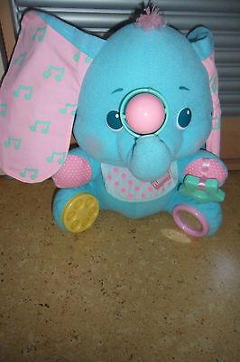Playkool Elefant hellblau Kinderspielzeug  Babyspielzeug Plüsch 30x40 cm