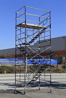 Scaffold Stairway Case Rolling Tower 5 X 7 X 167 To 17 7 Deck High Cbm1290