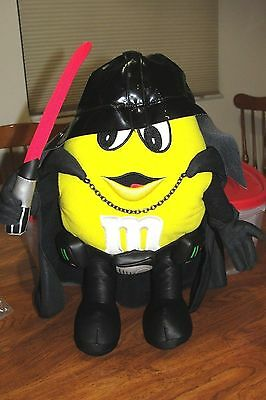 """M&M's Star Wars Darth Vader Yellow Plush Toy New in Bag promo mail 14"""" RARE 2005"""