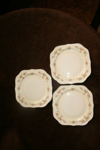 3- Homer Laughlin Countess Eggshell Georgian square salad plates