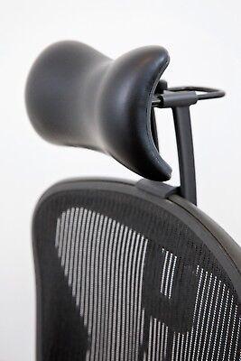 Atlas Headrest For Herman Miller Aeron Chair - Synthetic Leather Cushion