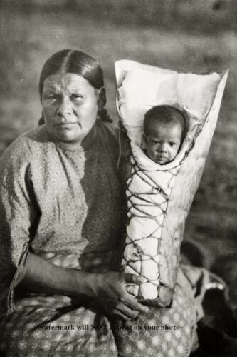 Comanche Mother With Child PHOTO Comanche Indian Native American Baby Son Tribe