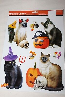 HALLOWEEN Window Clings CATS DRESSED UP IN COSTUMES](Cats In Costumes Halloween)