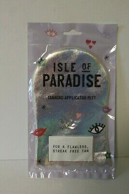 ISLE of PARADISE Washable Self Tan Applicator Mitt Streak Free BRAND NEW!