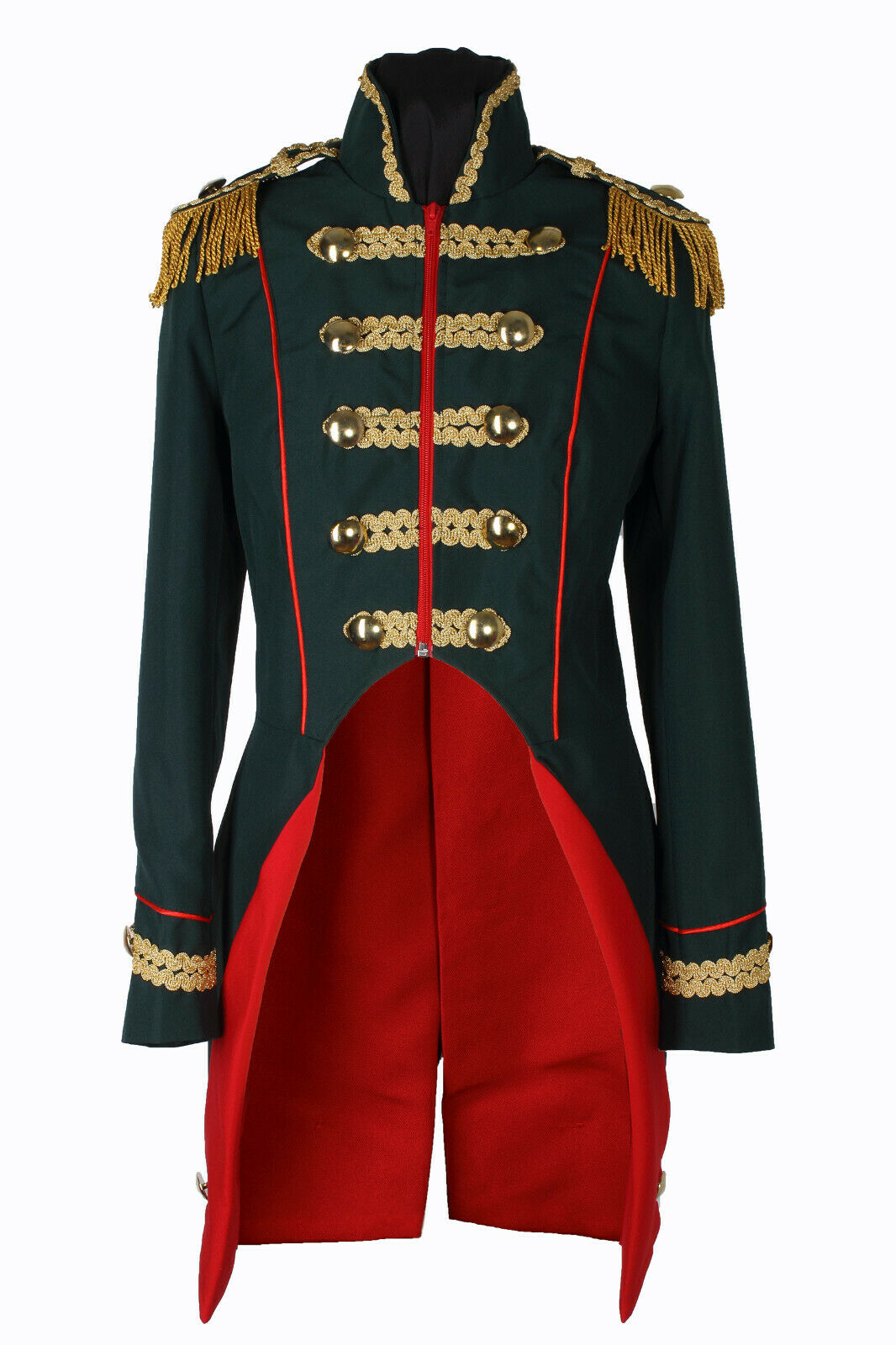 Damen Soldat Jacke Karnevalskostüm Uniform Fasching Gehrock Köln 36-54 Grün