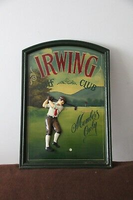 Golf decor Golf sign Golf gift Golf collectibles Golf wall decor Golf gift ideas