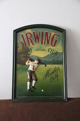 Golf decor Golf sign Golf gift Golf collectibles Golf wall decor Golf gift ideas - Golf Decorating Ideas