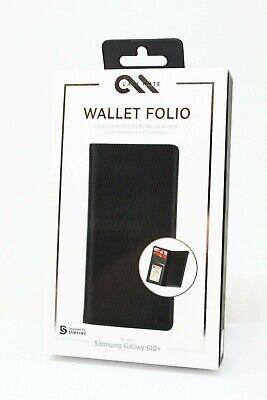 Case-Mate Wallet Folio Leather Case for Samsung Galaxy S10+ Plus - Black NEW Black Leather Folio Case