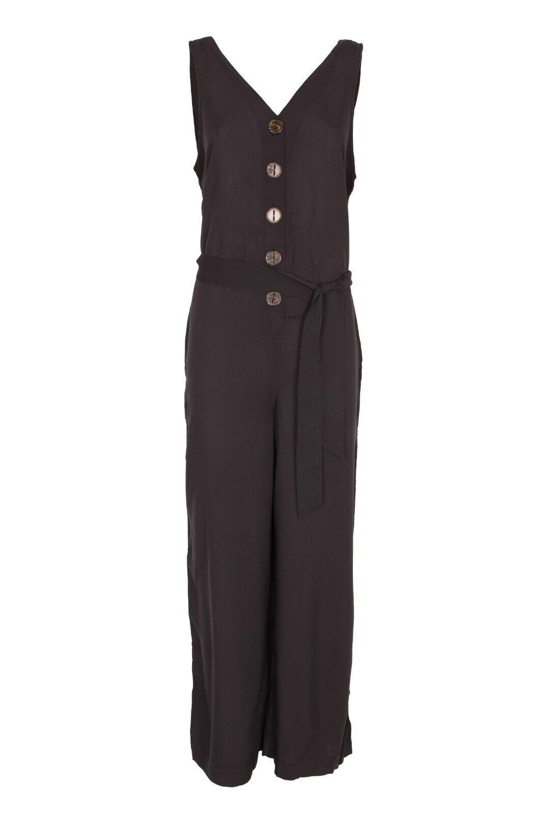 Damen Strandoverall Overall Jumpsuit BUFFALO schwarz NEU Größe 36 38 40 42 44 46