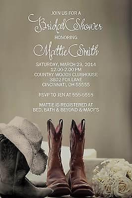 Couples Wedding Shower Invitations (Bridal Wedding Couples Shower Invitation Cowboy)
