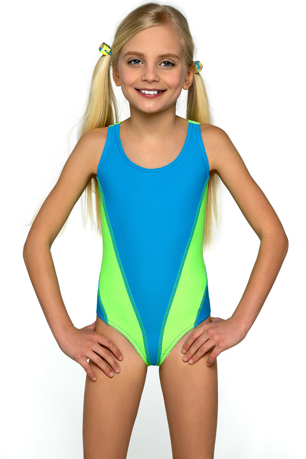 new one piece girls sport swimming costume swimwear