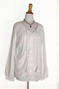 White Peasant Blouse | eBay