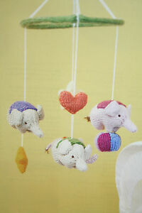 Baby Elephant Toy Cot Mobile Knitting Pattern