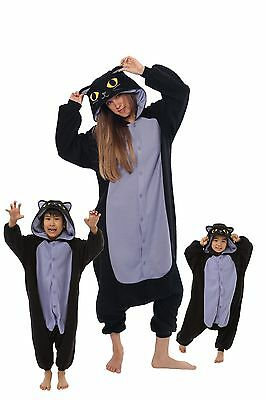 SAZAC Spooky Black Cat Kigurumi - Kids & Adults Costumes from USA](Spooky Costumes)