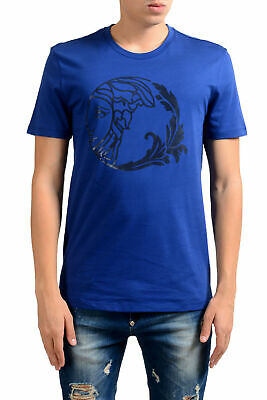 Versace Collection Men's Blue Graphic Print T-Shirt Sz S M L XL 2XL