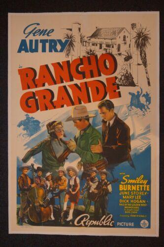 RANCHO GRANDE (ON LINEN) - GENE AUTRY
