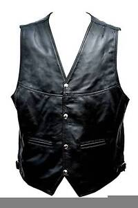 Brand New Motorcycle & Biker Fashion Soft Lamb Leather Vest Clayton Monash Area Preview