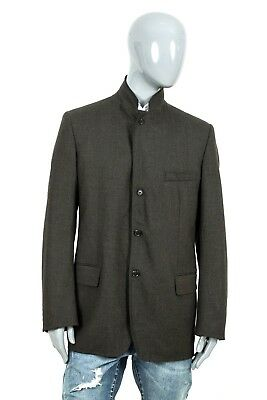 2500$ LUXURY MENS LOUIS VUITTON PARIS WOOL CASHMERE BUTTON JACKET BLAZER COAT 54