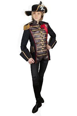 en Piraten Jacke Pirat Hochwertig Fasching 36-54 (Hochwertige Piraten-kostüm)