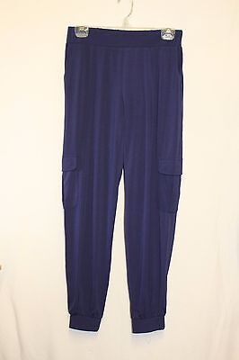 Lisa Rinna Collection Regular Banded Bottom Cargo Pants Xsm A275985 Navy