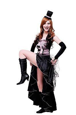 Kostüm Damenkostüm Burlesque Can-Can Girl Saloon Tänzerin burlesk L056  (Burlesque Girl Kostüm)