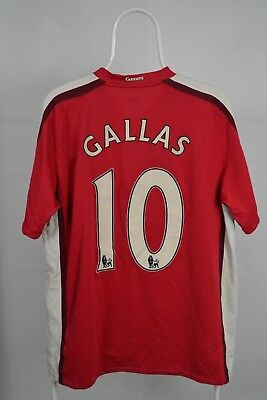 -  GALLAS #10 Arsenal Home Football Shirt Jersey 2008-2010 Size L LARGE