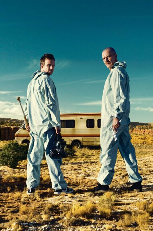 Breaking Bad Jesse and Walter Blue Suits Poster (24x36) inches