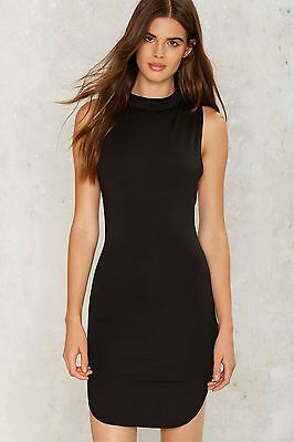 Nasty Gal Crews For A Bruising Mini Dress L Black Bodycon Club Cruise Womens