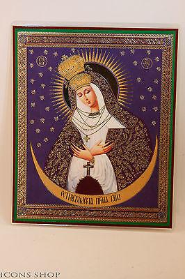 our lady of the gate of dawn russian christian icon 15x18cm остробрамская икона