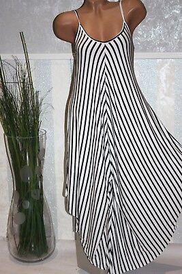 Italien, Kleid, Hose (Süßes Hosenkleid Strandkleid Off Shoulder Weiß Sommerkleid Tunika 34 36 38/251-2)