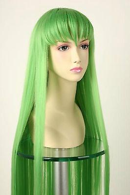 Anime Halloween Code Geass C.C 100CM Cosplay Costume Party Hair Wig+Free Wig Cap