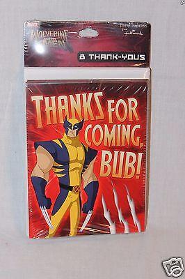 E X-MEN 8 THANK YOU NOTES  PARTY SUPPLIES (Wolverine Party Supplies)