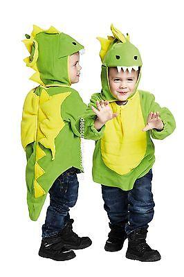IAL Kinder Kostüm Karneval Drache Feuerdrache Grün Kostüm Kinderkostüm