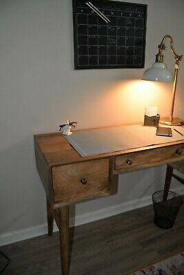 Leather Desk Pad - Unique Light Blue Large Deskpad - Mouse Pad