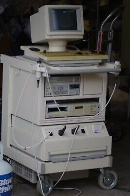 Interspec Atl Apogee Cx Ultrasound System Two Probes Two Sony Machines Works