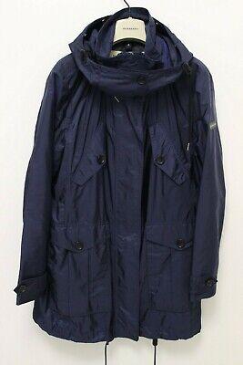 Burberry London Women's Iridescent Blue Hooded Zip-up Rain Coat US 12 UK (Burberry Uk)