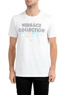 Versace Collection Men's White Graphic Crewneck T-Shirt Sz S M L XL 2XL