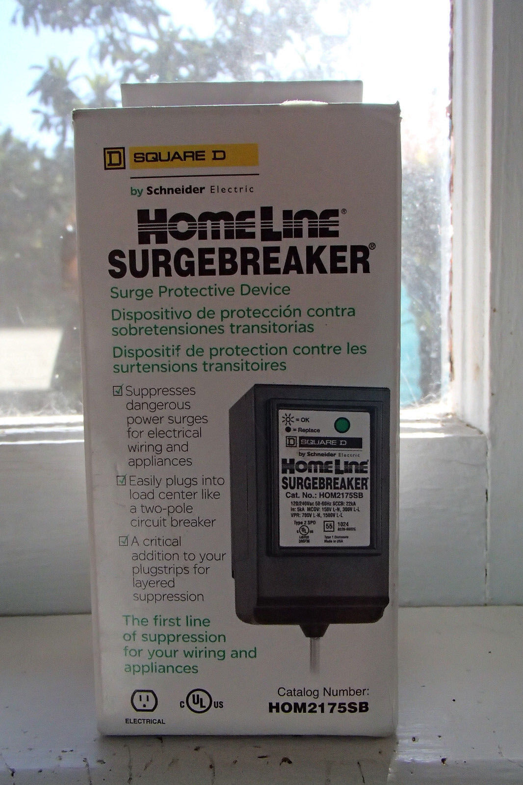 Square D Homeline Surge Protector Breaker Tyres2c Box Wiring Diagram Surgebreaker Hom2175sb Ping Bin Search