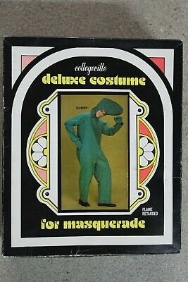 RARE 1970s Gumby 85A5 Deluxe Costume by Collegeville NEW (?) In Box Adult 42-44