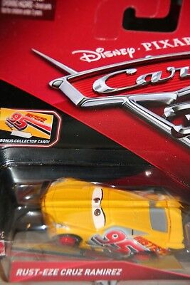 "DISNEY PIXAR CARS 3  ""#95 RUST-EZE CRUZ RAMIREZ"" BONUS COLLECTOR CARD"